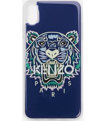 kenzo men's tiger iphone xs max case - blue
