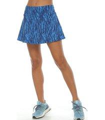 falda deportiva con licra interior, color turquesa para mujer