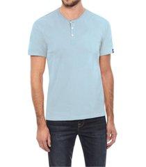 men's basic henley neck short sleeve t-shirt