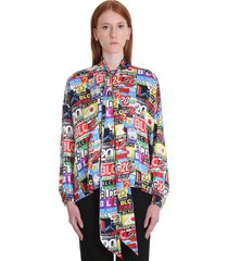 balenciaga blouse in multicolor viscose