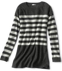 striped cashmere sweater tunic