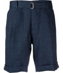 briglia 1949 straight-leg linen shorts - blue