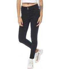 jeans high wast negro mujer corona