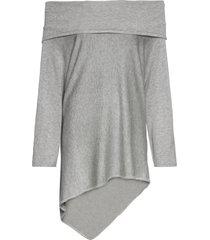 maglione oversize con spalle scoperte (grigio) - bodyflirt