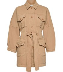 ariana ls coat outerwear jackets utility jackets beige second female