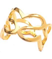 anel boca santa amor infinito - ouro amarelo