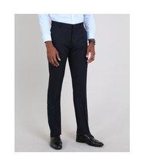 calça masculina alfaiatada azul marinho