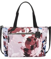 voyageur mauren abstract floral tote