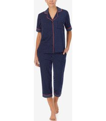 dkny sleepwear printed capri pants pajama set