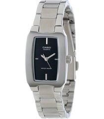 reloj dama casio ltp 1165a-1cdf pulso en acero análogo pulso en acero inoxidable resistente al agua