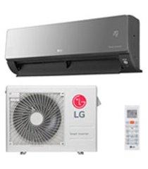 ar condicionado multi split inverter lg com 1x 8.500 btus+ 1x 17.100 btus, quente e frio, turbo branco-a3uw24gfa2