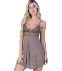 camisola yasmin lingerie copacabana castanho