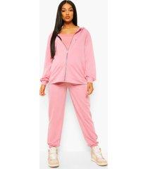 zwangerschaps 3-delige hoodie lounge set, dusky pink