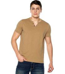 camiseta con botones de hombre-ocre polovers