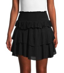 iro women's sausseti tiered mini skirt - black - size 34 (2)
