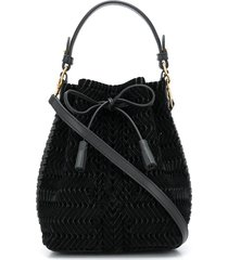anya hindmarch neeson drawstring tote bag - black