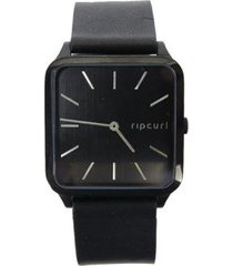 relógio rip curl ace midnight leather black masculino