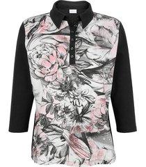 poloshirt mona zwart::roze