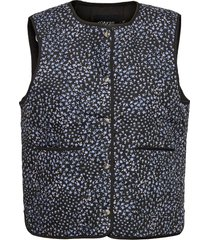 slqarin waistcoat vests knitted vests svart soaked in luxury