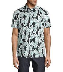 frye classic-fit floral cotton shirt