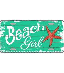 beach girl metal novelty license plate