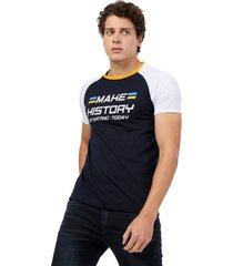 camiseta  combinada  azul navy  manpotsherd croacia