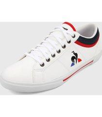 tenis lifestyle blanco-negro-rojo le coq sportif,