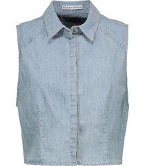 alice + olivia denim shirts