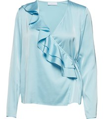 2nd haly blouse lange mouwen blauw 2ndday