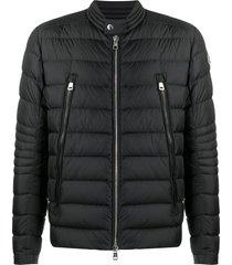 moncler horizontal panelled padded jacket - black