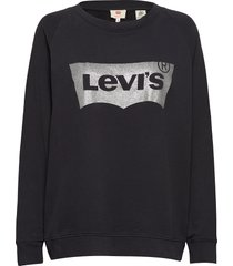 pl relaxed graphic crew plus h sweat-shirt trui zwart levi's plus