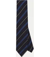 tommy hilfiger men's slim wid stripe wool tie navy/blue/white -
