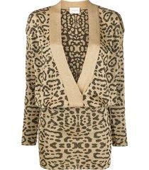 giuseppe di morabito drop waist knit dress - gold
