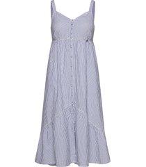 daisy midi dress jurk knielengte blauw superdry