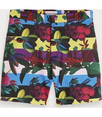 scotch & soda digital print swim shorts
