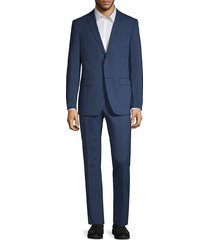john varvatos star u.s.a. men's standard-fit plaid suit - blue - size 42 r