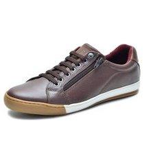 sapatênis over boots hoggar couro soft marrom