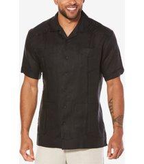 cubavera short-sleeve 4-pocket 100% linen guayabera shirt