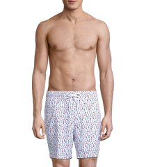 sperry men's volly print trunks - white - size xl