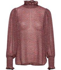 venezia blouse blouse lange mouwen rood second female