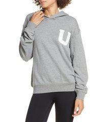 women's ugg fuzzy logo pullover hoodie sweatshirt