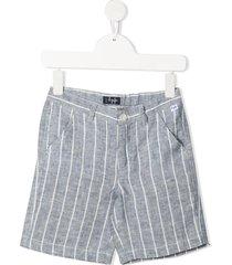 il gufo lightweight striped shorts