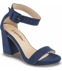 sandalias tacón alto celia azul para mujer croydon