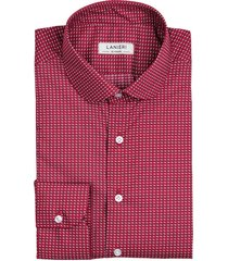 camicia da uomo su misura, canclini, optical rossa, quattro stagioni