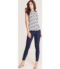jeans skinny contraste costuras azul 12
