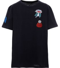 chinese new year 2020 oversized navy t-shirt for men