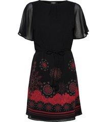 vest tampa korte jurk zwart desigual
