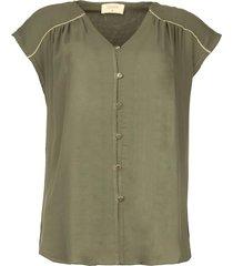 v-hals blouse ele  groen