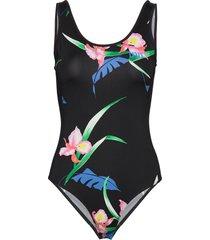 celeste bodysuit 80s tropical t-shirts & tops bodies svart levi´s women