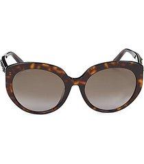 faux tortoiseshell 57mm cat eye sunglasses